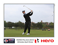 Playing with Richard Sterne (RSA) on the 10th tee during the Pro-Am of the Betfred British Masters 2019 at Hillside Golf Club, Southport, Lancashire, England. 08/05/19<br /> <br /> Picture: Thos Caffrey / Golffile<br /> <br /> All photos usage must carry mandatory copyright credit (&copy; Golffile | Thos Caffrey)