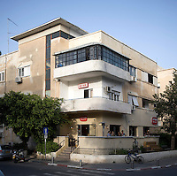 A Bauhaus style building at 39 Ben Gurion Boulevard. Tel Aviv is known as the White City in reference to its collection of 4,000 Bauhaus style buildings, the largest number in any city in the world. In 2003 the Bauhaus neighbourhoods of Tel Aviv were placed on the UNESCO World Heritage List. .