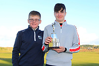David Kitt (Athenry) with Thomas Higgins (Roscommon) winner of the Ulster Boys Championship at Portrush Golf Club, Valley Links, Portrush, Co. Antrim on Thursday 1st Nov 2018.<br /> Picture:  Thos Caffrey / www.golffile.ie<br /> <br /> All photo usage must carry mandatory copyright credit (&copy; Golffile | Thos Caffrey)