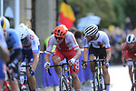 Szymon Sajnok of Poland in the chase group into Harrogate for the first time during the Men U23 Road Race of the UCI World Championships 2019 running 186.9km from Doncaster to Harrogate, England. 27th September 2019.<br /> Picture: Eoin Clarke | Cyclefile<br /> <br /> All photos usage must carry mandatory copyright credit (© Cyclefile | Eoin Clarke)
