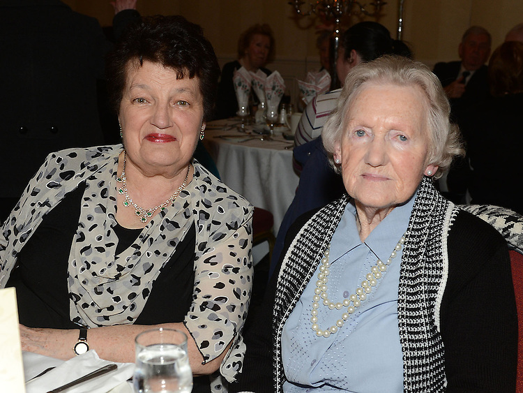 Mary Gallagher and Clare Keenan pictured at the Gardening Club annual Christmas Dinner in the Westcourt hotel. Photo:Colin Bell/pressphotos.ie