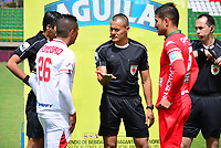 TUNJA - COLOMBIA, 3-09-2017 .Edilson Ariza referee central eNtre los equipos Patriotas Boyacá y Rionegro Águlas partido por la fecha 11 de la Liga Aguila II 2017 jugado en el estadio La Independencia  de la ciudad de Tunja. / Edilson Ariza central referee during match between Patriotas Boyaca and Rionegro Aguilas  match for the date 11 of the Liga Aguila II 2017 played at the Independencia Stadium in Tunja city . Photo:VizzorImage / Javier Alberto Morales Franco / Contribuidor