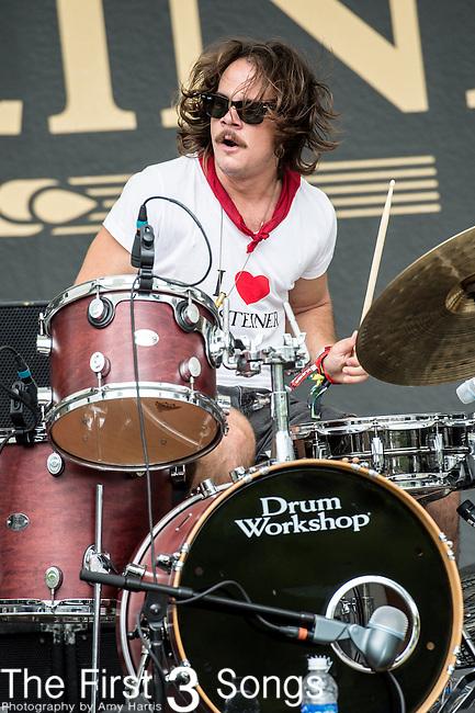 Adam Bonomo of The Black Cadillacs performs at the 2014 Bunbury Music Festival in Cincinnati, Ohio