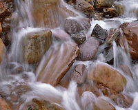 Water over rocks in Slide Creek Mt Hood National Forest Oregon