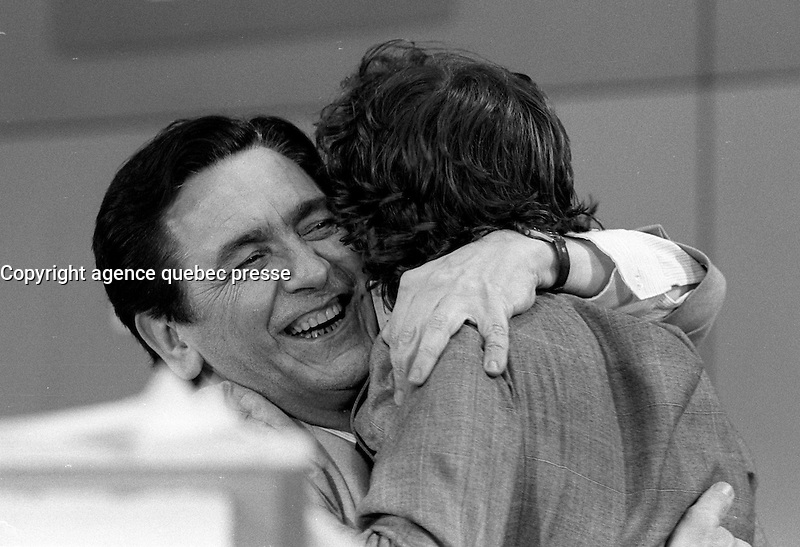 Camille Laurin<br />  speech on election night, April 13, 1981.<br /> <br /> The PQ  got elected for a second term