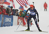 9th December 2017, Biathlon Centre, Hochfilzen, Austria; IBU Biathlon World Cup; Anastasiya Kuzmina (SLO) during the womens 7.5KM sprint