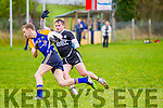 In Action Ardferts and Ballymac's Eanna Reidy in Senior Football League Div 3 Round 11 Ballymacelligott V Ardfert at Ballymacelligott GAA on Sunday