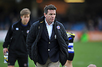 Bath Rugby Head Coach Mike Ford looks on during the pre-match warm-up. Aviva Premiership match, between Bath Rugby and Northampton Saints on December 5, 2015 at the Recreation Ground in Bath, England. Photo by: Patrick Khachfe / Onside Images