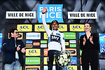 Race leader Egan Bernal (COL) Team Sky wins the 77th edition of Paris-Nice 2019 and the young riders White Jersey at the end of Stage 8 running 110km from Nice to Nice, France. 16th March 2019<br /> Picture: ASO/Alex Broadway | Cyclefile<br /> All photos usage must carry mandatory copyright credit (&copy; Cyclefile | ASO/Alex Broadway)