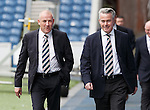 Rangers new manager Mark Warburton with director Paul Murray