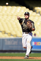 February 28 2010: Brian Harris of Vanderbilt  during game against Oklahoma State at Dodger Stadium in Los Angeles,CA.  Photo by Larry Goren/Four Seam Images