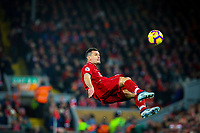 Liverpool's Dejan Lovren makes a clearance<br /> <br /> Photographer AlexDodd/CameraSport<br /> <br /> The Premier League - Liverpool v Manchester United - Sunday 16th December 2018 - Anfield - Liverpool<br /> <br /> World Copyright © 2018 CameraSport. All rights reserved. 43 Linden Ave. Countesthorpe. Leicester. England. LE8 5PG - Tel: +44 (0) 116 277 4147 - admin@camerasport.com - www.camerasport.com