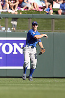 Matt Szczur #82 of the Chicago Cubs plays against the Arizona Diamondbacks in a spring training game at Salt River Fields on March 13, 2011 in Scottsdale, Arizona. .Photo by:  Bill Mitchell/Four Seam Images.