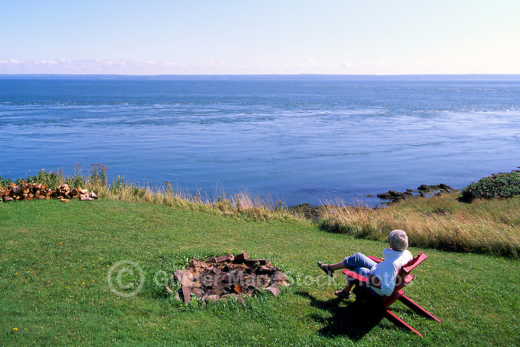 Cape d'Or, NS, Nova Scotia, Canada - Rugged Coastline along Bay of Fundy overlooking Minas Basin - Fundy Shore & Annapolis Valley Region (Model Released)
