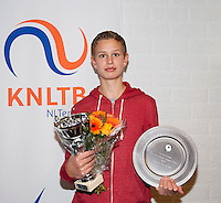 November 30, 2014, Almere, Tennis, Winter Youth Circuit, WJC,  Prizegiving, <br /> Photo: Henk Koster