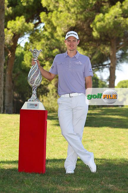 Justin Rose (ENG) winner  of the Turkish Airlines World Golf Final in Antalya Golf Club, Antalya, Turkey..Picture: Fran Caffrey/www.golffile.ie.
