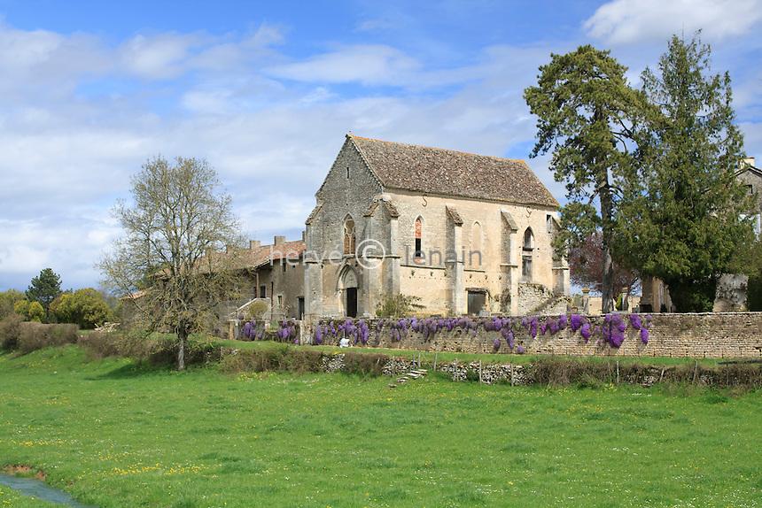 France, Saône-et-Loire (71), Montbelley, hameau de Mercey, chapelle de la commanderie // France, Saône-et-Loire, Montbelley, hamlet of Mercey, chapel of commanderie
