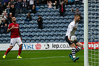 Preston North End's Paul Gallagher gathers the ball to restart the game after scoring his side's first goal from the penalty spot<br /> <br /> Photographer Alex Dodd/CameraSport<br /> <br /> The EFL Sky Bet Championship - Preston North End v Bristol City - Saturday 28th September 2019 - Deepdale Stadium - Preston<br /> <br /> World Copyright © 2019 CameraSport. All rights reserved. 43 Linden Ave. Countesthorpe. Leicester. England. LE8 5PG - Tel: +44 (0) 116 277 4147 - admin@camerasport.com - www.camerasport.com