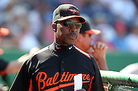 Baltimore Orioles Willie Randolph #13 during a spring training game vs. the Philadelphia Phillies at Bright House Field in Clearwater, Florida;  March 8, 2011.  Philadelphia defeated Baltimore 4-3.  Photo By Mike Janes/Four Seam Images