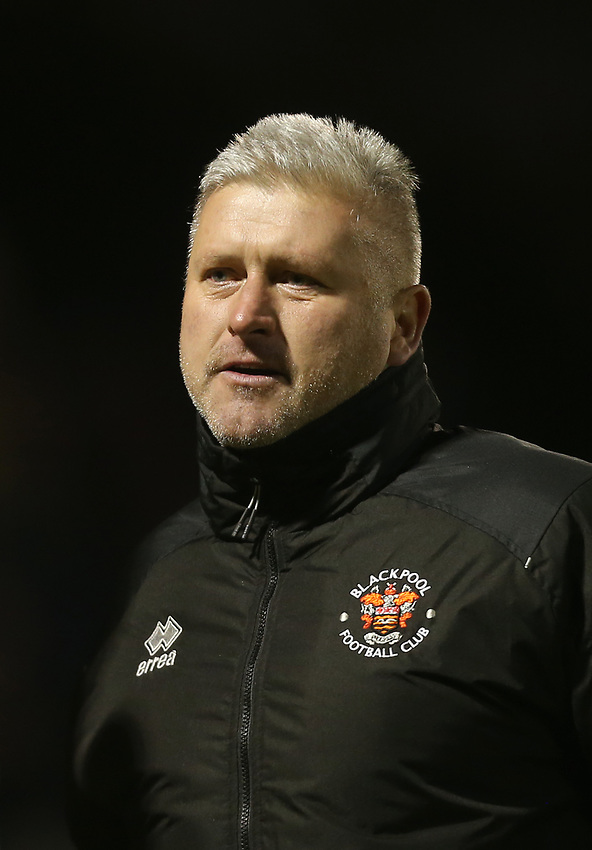 Blackpool manager Terry McPhillips <br /> <br /> Photographer Rob Newell/CameraSport<br /> <br /> The EFL Sky Bet League One - Southend United v Blackpool - Saturday 17th November 2018 - Roots Hall - Southend<br /> <br /> World Copyright © 2018 CameraSport. All rights reserved. 43 Linden Ave. Countesthorpe. Leicester. England. LE8 5PG - Tel: +44 (0) 116 277 4147 - admin@camerasport.com - www.camerasport.com