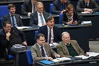 15. Sitzung des Bundestages am Freitag den 23. Februar 2018.<br /> Im Bild: Fraktion der rechtsnationalistischen &quot;Alternative fuer Deutschland&quot; (AfD). Bernd Baumann (Bildmitte), Parlamentarischer Geschaeftsfuehrer der AfD bei einem empoerten Zwischenruf in der aktuellen Stunde auf Antrag von Buendnis 90/Die Gruenen zum Thema &quot;Demokratie/Erinnerungskultur angesichts rechtsextremistischer Angriffe&quot;.<br /> 23.2.2018, Berlin<br /> Copyright: Christian-Ditsch.de<br /> [Inhaltsveraendernde Manipulation des Fotos nur nach ausdruecklicher Genehmigung des Fotografen. Vereinbarungen ueber Abtretung von Persoenlichkeitsrechten/Model Release der abgebildeten Person/Personen liegen nicht vor. NO MODEL RELEASE! Nur fuer Redaktionelle Zwecke. Don't publish without copyright Christian-Ditsch.de, Veroeffentlichung nur mit Fotografennennung, sowie gegen Honorar, MwSt. und Beleg. Konto: I N G - D i B a, IBAN DE58500105175400192269, BIC INGDDEFFXXX, Kontakt: post@christian-ditsch.de<br /> Bei der Bearbeitung der Dateiinformationen darf die Urheberkennzeichnung in den EXIF- und  IPTC-Daten nicht entfernt werden, diese sind in digitalen Medien nach &sect;95c UrhG rechtlich geschuetzt. Der Urhebervermerk wird gemaess &sect;13 UrhG verlangt.]