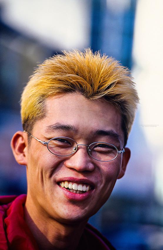 Young Korean Man, Nampodong Street, Pusan (Busan), South Korea