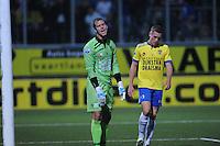 VOETBAL: LEEUWARDEN: 12-09-2015, SC Cambuur - PSV, uitslag 0-6, Cambuur keeper Harmen Zeinstra baalt, ©foto Martin de Jong