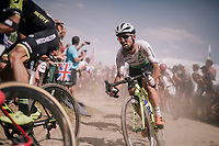 Mark Cavendish (GBR/Dimension Data) on pav&eacute; sector #2<br /> <br /> Stage 9: Arras Citadelle &gt; Roubaix (154km)<br /> <br /> 105th Tour de France 2018<br /> &copy;kramon