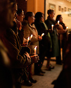 A candlelight vigil was held for Mohammed Arfan Sundal, the owner of the Kabab & Curry House at 2016 Guess Road, Durham. Mr. Sundal was fatally shot Dec. 6, leaving behind a wife, two daughters and two sons. The killer remains at large. December 13, 2012. Durham, North Carolina.