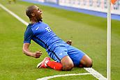 June 13th 2017, Stade de France, Paris, France; International football friendly, France versus England;  Djibril Sidibe (fra) celebrates scoring in the 43rd minute for 2-1