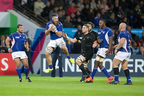 24.09.2015. Olympic Stadium, London, England. Rugby World Cup. New Zealand versus Namibia. Namibia flanker Jacques Burger.
