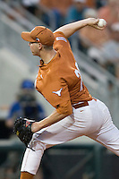 Texas Longhorns pitcher Corey Knebel #29 delivers against the Texas A&M Aggies in NCAA Big XII Conference baseball on May 21, 2011 at Disch Falk Field in Austin, Texas. (Photo by Andrew Woolley / Four Seam Images)