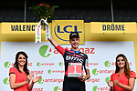 Michael Schar (SUI) BMC Racing Team wins the days combativity award at the end of Stage 13 of the 2018 Tour de France running 169.5km from Bourg d'Oisans to Valence, France. 20th July 2018. <br /> Picture: ASO/Alex Broadway | Cyclefile<br /> All photos usage must carry mandatory copyright credit (&copy; Cyclefile | ASO/Alex Broadway)