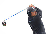 Yusaku Miyazato (JPN) on the 5th tee during Round 1 of the Betfred British Masters 2019 at Hillside Golf Club, Southport, Lancashire, England. 09/05/19<br /> <br /> Picture: Thos Caffrey / Golffile<br /> <br /> All photos usage must carry mandatory copyright credit (© Golffile | Thos Caffrey)