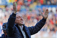 Swansea City manager Steve Cooper celebrates his team's win during the Sky Bet Championship match between Swansea City and Cardiff City at the Liberty Stadium, Swansea, Wales, UK. Sunday 27 October 2019