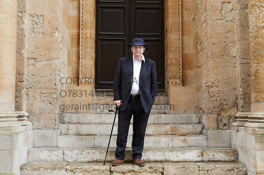 Philip Pullman author and writer at The Sheldonian Theatre   at The Oxford  Literary Festival   2013. Credit Geraint Lewis