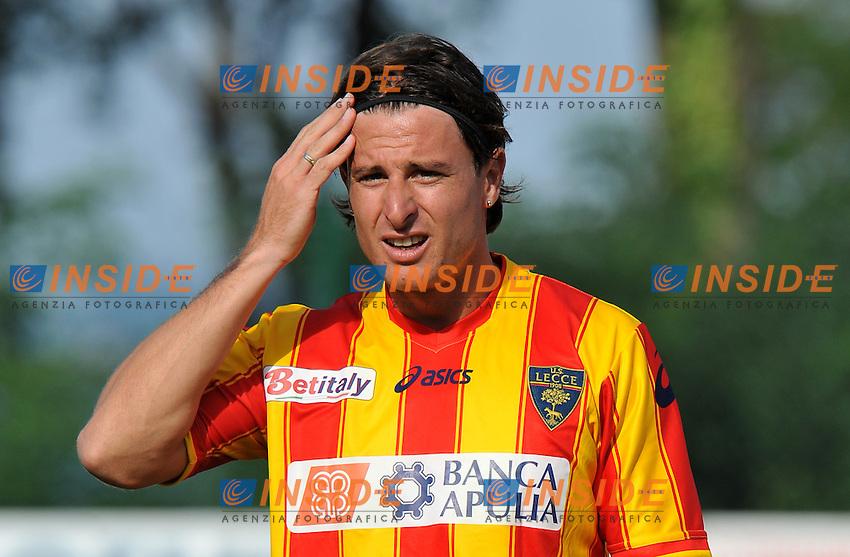 """Daniele CACIA (Lecce).Lecce Vs Calstelfranco.Football Calcio gara amichevole 2011/2012.Fanano 7/8/2011 Centro Sportivo """"Fanano"""".Foto Alessandro Sabattini Insidefoto"""