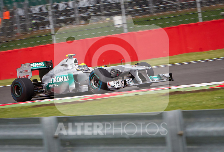 08.07.2011, Silverstone Circuit, Silverstone, GBR, F1, Großer Preis von Großbritannien, Silverstone, im Bild Nico Rosberg (GER), Mercedes GP Petronas F1 Team // during the Formula One Championships 2011 British Grand Prix held at the Silverstone Circuit, Northamptonshire, United Kingdom, 2011-07-08, EXPA Pictures © 2011, PhotoCredit: EXPA/ J. Feichter