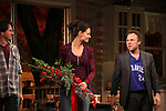 Josh Hamilton, Katie Holmes & Norbert Leo Butz during Broadway Opening Night Performance Curtain Call for 'Dead Accounts' at the Music Box Theatre in New York City. November 29, 2012.