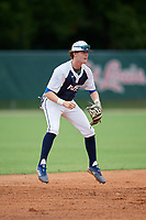 Charlie Yanoshik (1) during the WWBA World Championship at the Roger Dean Complex on October 11, 2019 in Jupiter, Florida.  Charlie Yanoshik attends La Salle College High School in Lafayette Hill, PA and is committed to Tulane.  (Mike Janes/Four Seam Images)