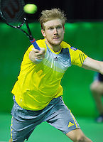 10-02-13, Tennis, Rotterdam, qualification ABNAMROWTT,   Matthias Bachinger
