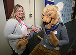 Nursing student Megan Martinez checks out Willy at the annual Western Nevada College Foundation Scholarship Appreciation &amp; Recognition Celebration in Carson City, Nev., on Friday, March 9, 2018. <br /> Photo by Cathleen Allison/Nevada Momentum