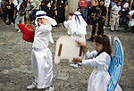 Antigua, Guatemala is known for its vibrant religious festival during Semana Santa (Holy Week) religious celebrations among Latin America. Semana Santa consists of costumed processions, reenactments of crucifixion and other events.