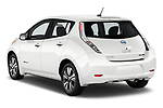 Car pictures of rear three quarter view of 2017 Nissan Leaf SL 5 Door Hatchback angular rear