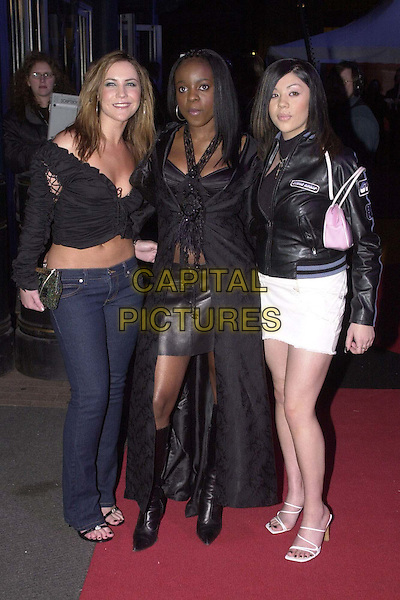 SUGABABES.Arrivals for the Brit Awards at Earls Court.full length, full-length.*RAW SCAN - photo will be adjusted for publication*.www.capitalpictures.com.sales@capitalpictures.com.© Capital Pictures