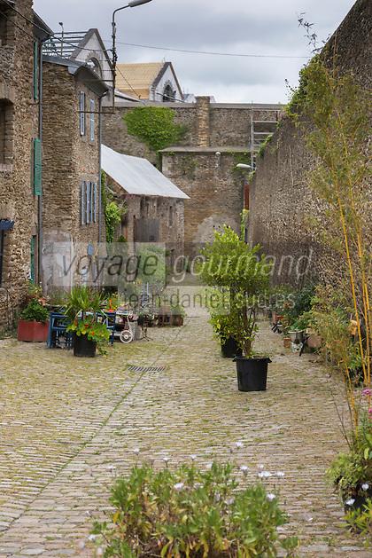 France, Bretagne, (29), Finistère, Brest:  La rue Saint-Malo dans le vallon du Pontaniou dans le quartier de Recouvrance