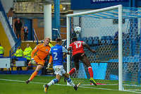 Barnsley's defender Andy Yiadom (17) clears a over the bar during the Sky Bet Championship match between Sheff Wednesday and Barnsley at Hillsborough, Sheffield, England on 28 October 2017. Photo by Stephen Buckley / PRiME Media Images.