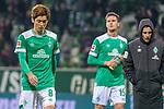 01.12.2018, Weser Stadion, Bremen, GER, 1.FBL, Werder Bremen vs FC Bayern Muenchen, <br /> <br /> DFL REGULATIONS PROHIBIT ANY USE OF PHOTOGRAPHS AS IMAGE SEQUENCES AND/OR QUASI-VIDEO.<br /> <br />  im Bild<br /> <br /> entt&auml;uscht / enttaeuscht / traurig / Niederlage<br /> Yuya Osako (Werder Bremen #08)<br /> Sebastian Langkamp (Werder Bremen #15)<br /> <br /> Foto &copy; nordphoto / Kokenge