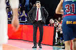 Coach Velimir Perasovic of Kirolbet Baskonia during Liga Endesa match between Real Madrid and Kirolbet Baskonia at Wizink Center in Madrid Spain. February 10, 2019. (ALTERPHOTOS/Borja B.Hojas)