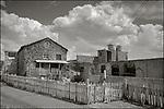 Cojimar, Cuba:<br /> Cojimar street scene with fence and houses